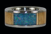 Mango and Blue Lab Opal Titanium Ring - Hawaii Titanium Rings  - 2