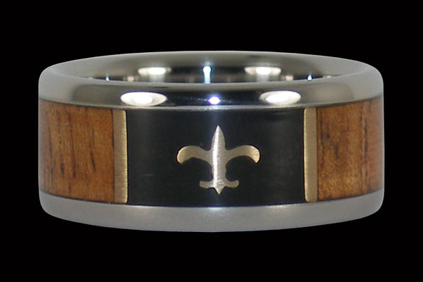 Saints Titanium Ring