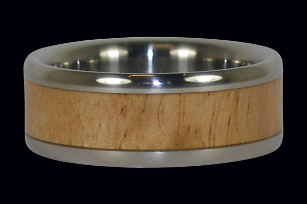Eucalyptus Wood Titanium Ring Band