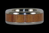 African Blackwood and Koa Titanium Ring - Hawaii Titanium Rings  - 5