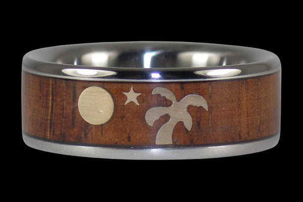 Palm Tree Full Moon Ring