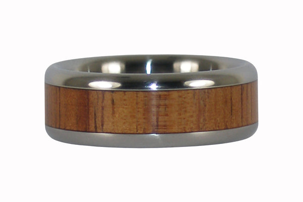 Hawaiian Fire Koa Titanium Ring Band From Hawaii Titanium Rings®