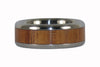 Fire Koa Wood Ring Titanium Ring