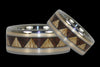 Gold Inlay Tribal Wood Titanium Rings - Hawaii Titanium Rings  - 1