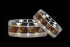 Titanium Ring with Gold Inlay and Drum Pattern - Hawaii Titanium Rings  - 2