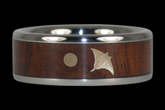 Manta Ray Night Dive Ring - Hawaii Titanium Rings  - 1