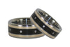 Diamond Titanium Wedding Ring Set - Hawaii Titanium Rings  - 4