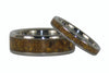 Gold Tigers Eye Titanium Ring Set - Hawaii Titanium Rings  - 4