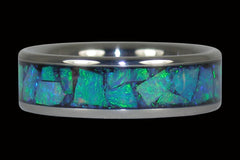 Green Opal Titanium Ring - Hawaii Titanium Rings  - 1