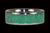 Green Turquoise Titanium Ring - Hawaii Titanium Rings  - 1