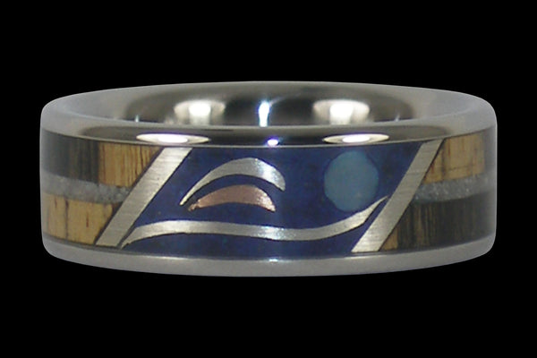 Dolphin Design Titanium Ring Band