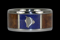 Big Island Hawaii Ring - Hawaii Titanium Rings  - 1