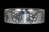 Hibiscus Engraved Titanium Ring - Hawaii Titanium Rings  - 1