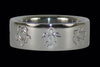 Turtle Engraving Titanium Ring Band - Hawaii Titanium Rings  - 1