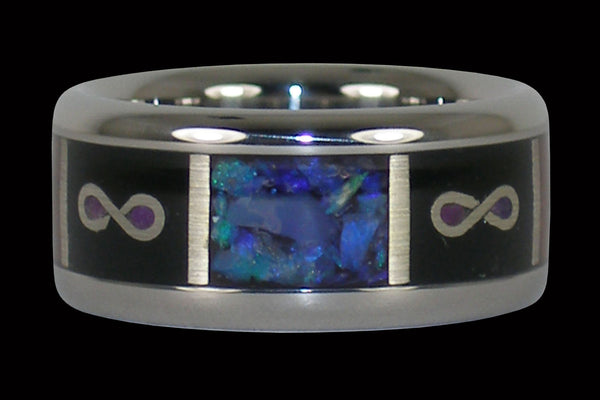 Infinity Titanium Ring Band