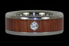 Fire Koa Diamond Titanium Rings - Hawaii Titanium Rings  - 3