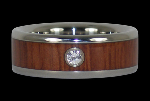 Jarrah Wood Titanium Wedding Band