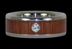 Jarrah Wood Titanium Wedding Band - Hawaii Titanium Rings  - 1