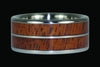 Mesquite Wood or Kiawe Wood Titanium Ring Band - Hawaii Titanium Rings  - 1