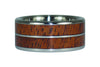 Mesquite Wood or Kiawe Wood Titanium Ring Band - Hawaii Titanium Rings  - 2