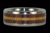 Kingwood and Koa Titanium Ring Set - Hawaii Titanium Rings  - 2