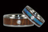 Dark Koa Diamond Titanium Ring - Hawaii Titanium Rings  - 3