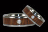 Fire Koa Diamond Titanium Rings - Hawaii Titanium Rings  - 1