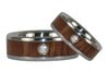 Fire Koa Diamond Titanium Rings - Hawaii Titanium Rings  - 4