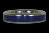 Blue Lapis Titanium Ring - Hawaii Titanium Rings  - 3