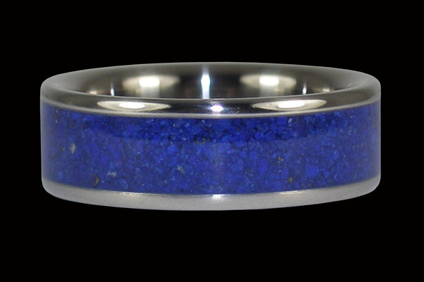 Blue Lapis Titanium Ring