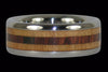 Light Koa Titanium Ring Band - Hawaii Titanium Rings  - 2