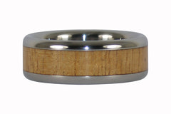 Light Koa Wood Titanium Ring Band
