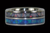 Blue Australian Opal Titanium Ring - Hawaii Titanium Rings  - 4