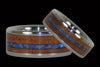 Australian Opal Wood Inlay Titanium Ring Band - Hawaii Titanium Rings  - 2