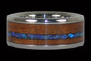 Australian Opal Wood Inlay Titanium Ring Band - Hawaii Titanium Rings  - 1