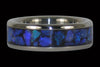 Black Opal Titanium Ring Band - Hawaii Titanium Rings  - 1