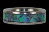Green Opal Titanium Ring - Hawaii Titanium Rings  - 2