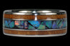 Rainbow Opal Titanium Ring Band - Hawaii Titanium Rings  - 2
