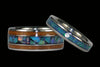 Blue Opal and Koa Wood Hawaii Titanium Ring®