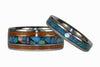 Opal and Koa Titanium Wedding Rings - Hawaii Titanium Rings  - 4
