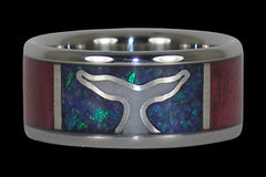 Whales Tail Titanium Ring - Hawaii Titanium Rings  - 1