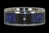 Black Opal Titanium Diamond Ring - Hawaii Titanium Rings  - 2