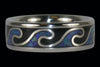 Blue Opal and Black Onyx Titanium Surf Ring - Hawaii Titanium Rings  - 2