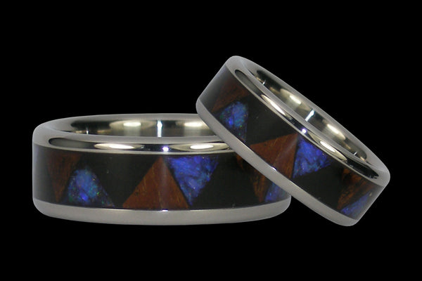 Tribal Pattern Titanium Rings