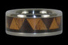 Tribal Titanium Ring Band with Exotic Wood Inlay - Hawaii Titanium Rings  - 1