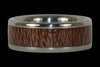Mac Nut Wood Inlay Titanium Ring - Hawaii Titanium Rings  - 1