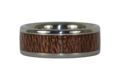 Macadamia Nut Titanium Wood Ring