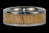 Mango Wood Titanium Ring Band - Hawaii Titanium Rings  - 2