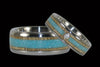 Blue Turquoise and Mango Titanium Ring - Hawaii Titanium Rings  - 2