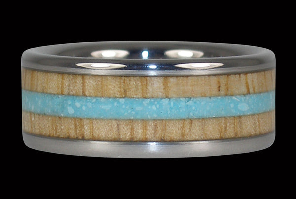 Blue Sleeping Beauty Turquoise and Mango Wood Ring
